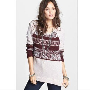 Free People Snow Angel Sweater Ballet Combo Small